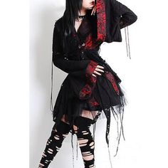 I found 'Gothic Vampire and Punk Little Black Kimono Corset Prom Dress' on Wish, check it out!