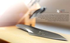 WMF Kitchen Knife Concept by André Marsiglia - It is crafted from a single piece of metal. Essentially, the knife is characterized by blended volume and how the gradient gently mergers the layers. Read more at http://www.yankodesign.com/2014/02/06/cuts-like-a-knife/#6PCLtBH9elhRrGym.99