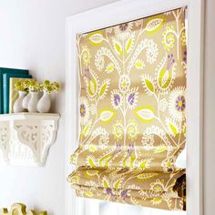 "Do you have a window that you need a shade for? How to make a ""no sew"" Roman Shade."