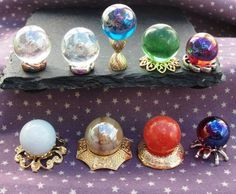 Dolls house Crystal Ball Witch Wizard Spooky Halloween Miniatures