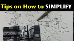 Urban Sketching & Drawing Outdoor Scenes Pt 5 | Simplifying what you see - YouTube