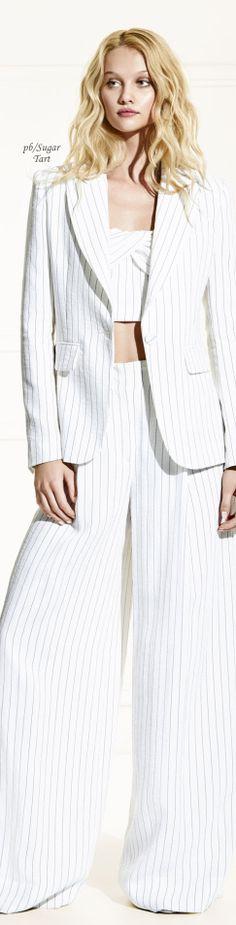 cb3c84139a7f Rachel Zoe- Pre-Fall 2018 Pinstripe Suit