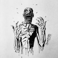 #1of545 #dailysketch #545sketches2go #horror #ink #art #illustration #comic #comicbook