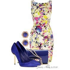 """""""Printed Dress"""" by jessica-allman on Polyvore"""