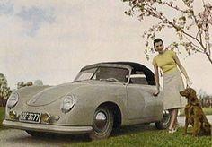 Rare Pin-Up Car Girl - 1952 Porsche 356