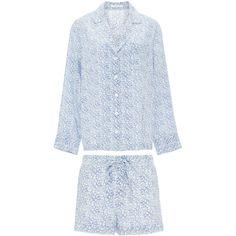 Equipment Floral Printed Silk Pajama Set ($390) ❤ liked on Polyvore featuring intimates, sleepwear and pajamas