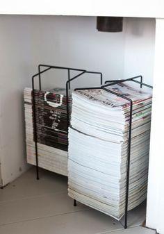 Wat een perfecte manier om de tijdschriften mooi en overzichtelijk op te bergen! Nog niet eerder gezien, waar te koop???