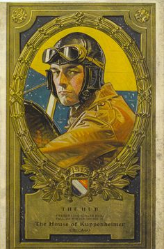 J.C. Leyendecker, illustration cover art for Kuppenheimer Style Booklet. WWI pilot. Collection of Tony peters.