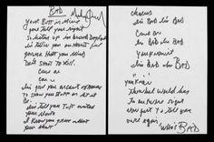 Michael Jackson's handwritten lyrics for BAD!