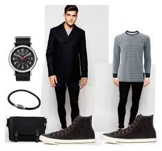 """~125"" by hyperboi ❤ liked on Polyvore featuring Liquor n Poker, Tommy Hilfiger, Uniqlo, Converse, ASOS, Timex, men's fashion and menswear"