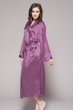 4b7b0f6321 This violet color 100 top quality long purple silk robes are chosen from 100  perfect quality