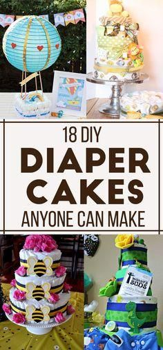 Diaper cakes you can make at home!