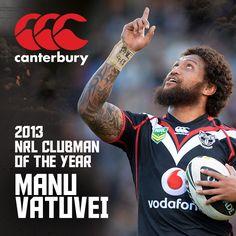 Congratulations to 2013 Canterbury NRL Clubman of the Year Manu Vatuvei