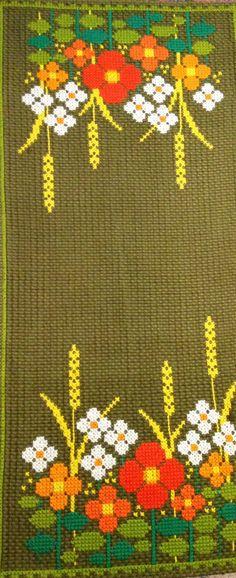 60s tejidos a mano bordados mediados siglo scandi por Inspiria
