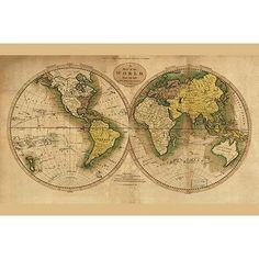 Buyenlarge 'World Map' by Matthew Carey Graphic Art