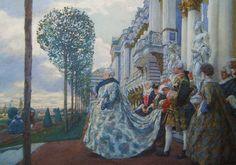 Лансере.Императрица Елизавета Петровна в Царском селе.1905