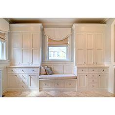 Eclectic Bedroom Window Seat Design, Pictures, Remodel, Decor and Ideas Bedroom Built Ins, Closet Bedroom, Master Closet, Closet Space, Deep Closet, Closet Wall, Tiny Closet, Kids Bedroom, Trendy Bedroom