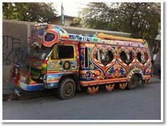 Tap-tap bus in Haiti. Road one in Port au Prince. Central America, South America, Jamaica, Barbados, Projects For Kids, Art Projects, Port Au Prince, Haitian Art, The Beautiful Country