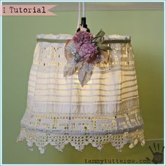 Tammy Tutterow   Vintage Lace Hanging Lamp