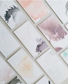 WEDDING INSPIRATION: watercolor escort cards from artist @satsukishibuya…