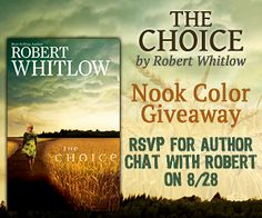 Robert Whitlow The Choice Nook Color Giveaway