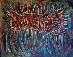 """""""Germe alieno"""" 2012 Tecnica mista su cartoncino 38x48 ©Pietro Gargano"""
