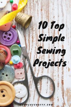 Check out these 10 top simple sewing projects that you can make today with just basic to intermediate sewing skills. Just a little bit of fabric and a little bit of time will result in these 10 top sewing projects that anyone can master in no time at all Easy Sewing Projects, Sewing Projects For Beginners, Sewing Hacks, Sewing Tutorials, Sewing Tips, Diy Projects, Sewing Ideas, Sewing Crafts, Sewing Lessons
