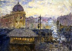 Frederick McCubbin Flinders Street Railway Station - The Largest Art reproductions Center In Our website. Low Wholesale Prices Great Pricing Quality Hand paintings for saleFrederick McCubbin Australian Painting, Australian Artists, Hans Thoma, World Images, Oil Painting Reproductions, Large Art, Artist Painting, Impressionism, Art For Sale