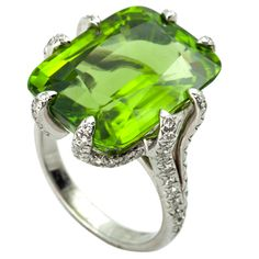 1stdibs - Peridot and Diamond Ring explore items from 1,700  global dealers at 1stdibs.com