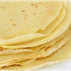 Per Crepe: Calories 57; Protein 4 g; Fat 3 g; Carb 6 g; Sugar 1 g; Sodium 35 mg
