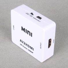 Tmvel HDMI2RCACVS 3 RCA Composite Video AV to Mini HDMI Converter for TV/PC/PS3/Blue-Ray DVD Generic http://www.amazon.com/dp/B009A6PJKQ/ref=cm_sw_r_pi_dp_KIb1tb0WVXPAYYQX