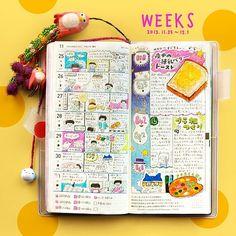 先週のほぼ日手帳weeks。 夜明けにバターと練乳をたっぷり塗ったトーストを食べる日々…。太った。ひょえー。 #ほぼ日手帳 #手帳 #hobonichi…