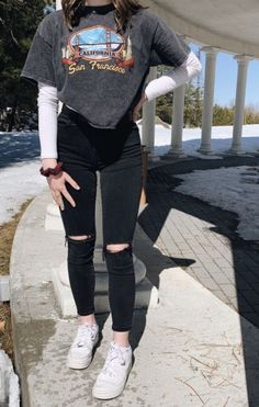 Casual School Outfits, Cute Comfy Outfits, Simple Outfits, Stylish Outfits, Polyvore Outfits Casual, Back To School Outfits Highschool, Spring School Outfits, Casual Outfits For Girls, Layered Outfits