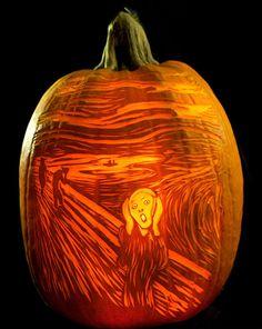 """""""The Scream"""" Pumpkin"""