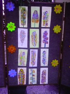 #flowers, #spring, #colors  Children painted with their fingers.