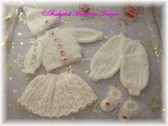 "FREE Boys and Girls Christmas Sets 16-18"" doll/Baby Born/Newborn-free knitting pattern"