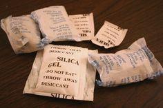 8 façons utiles de réutiliser les sachets de gel de silice (Silica Gel) - Québec gratuit