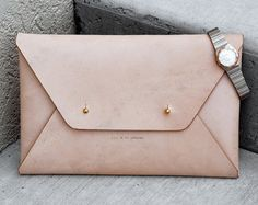 leather clutch – Etsy ES