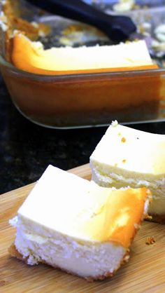 EggNog Cheesecake Bars - Church PotLuck Dessert  | for exercise and nutritional information visit:   ♥♥♥ www.getfitglobal.com ♥♥♥