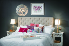 The beauty is in the detail - select from a wide range of charming cushions to adorn your bed www.earlysettler.com.au