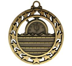 Swimming Medal Available in Gold, Silver and Bronze.