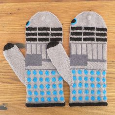 Knit Some Adorable Dalek Mittens