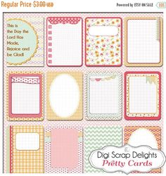 50% OFF TODAY Pretty Bible Journal Cards Project Life Inspired 3x4 Printable PDF & Png Digital Scrapbooking Instant Download DigiScrapDelights 1.50 USD