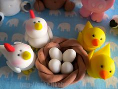 Adorable Fondant Farm Animal Cake Toppers by LikeButter