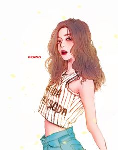 Fan art of Bae Joo-hyun (배주현) also known mononymously as Irene (아이린) of Red Velvet (레드벨벳). || © GRAZIO on FanBook.