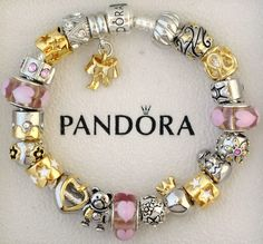 New Authentic S Silver Pandora Bracelet Pandora Beads Love Heart Angel Charms | eBay