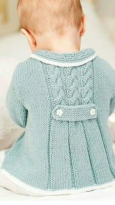 Diy Crafts - NEW Little Princess Coat For 2 to 3 Year Old by AuthenticKnit Baby Cardigan Knitting Pattern Free, Baby Knitting Patterns, Baby Patterns, Knit Baby Sweaters, Knitted Baby Clothes, Baby Coat, Knit Jacket, Knitting For Kids, Kind Mode