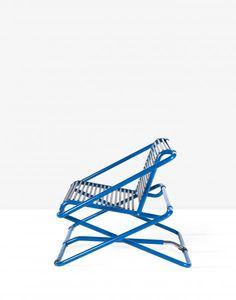 "Ron Arad - Fauteuil ""rocking chair-sandows""-1981 - Ed. One off"