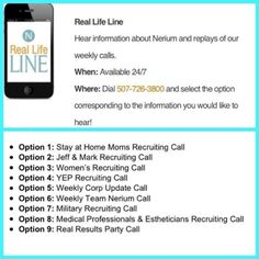 Esthetician? Stay-at-Home Mom? In the military?  Pick a call that suits you and listen in today! www.neriumwithkelly.com
