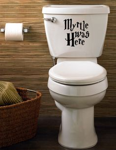 Myrtle Was Here Harry Potter Funny Toilet Decal/Sticker Home 150mm made by devon decals: Amazon.co.uk: DIY & Tools